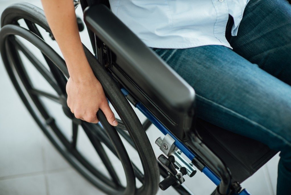 Disabled person in a wheelchair