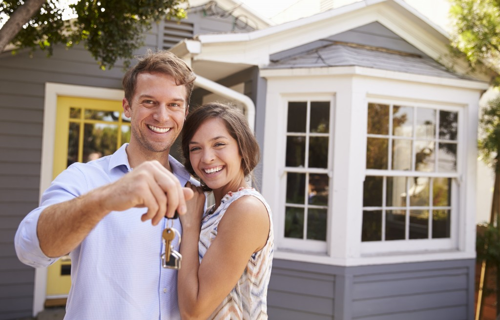 couple at their new house