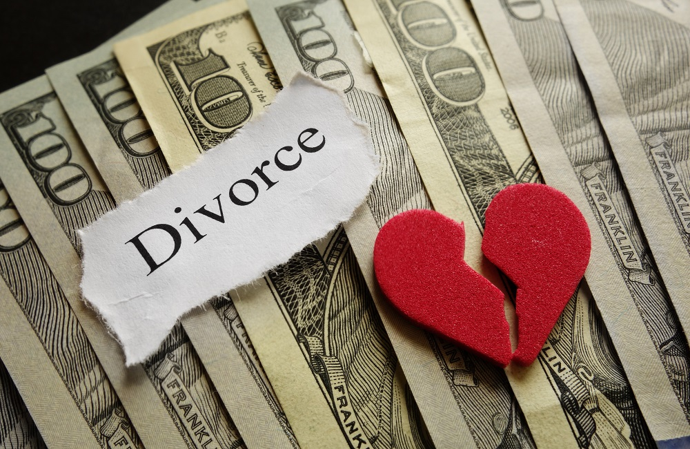 Divorce on top of money