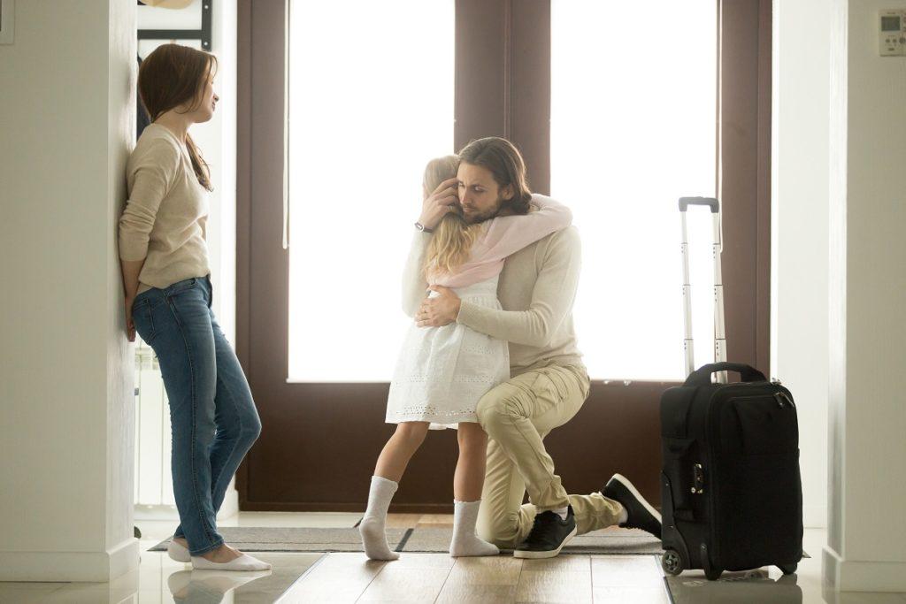 Girl hugging her dad