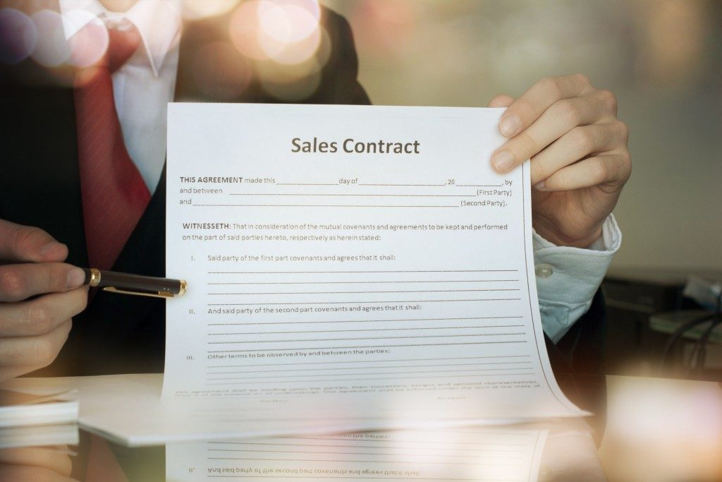property sales contract