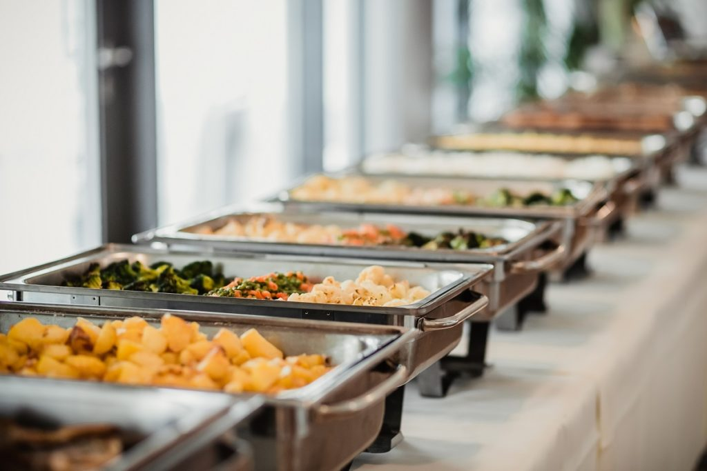 Food in a catering