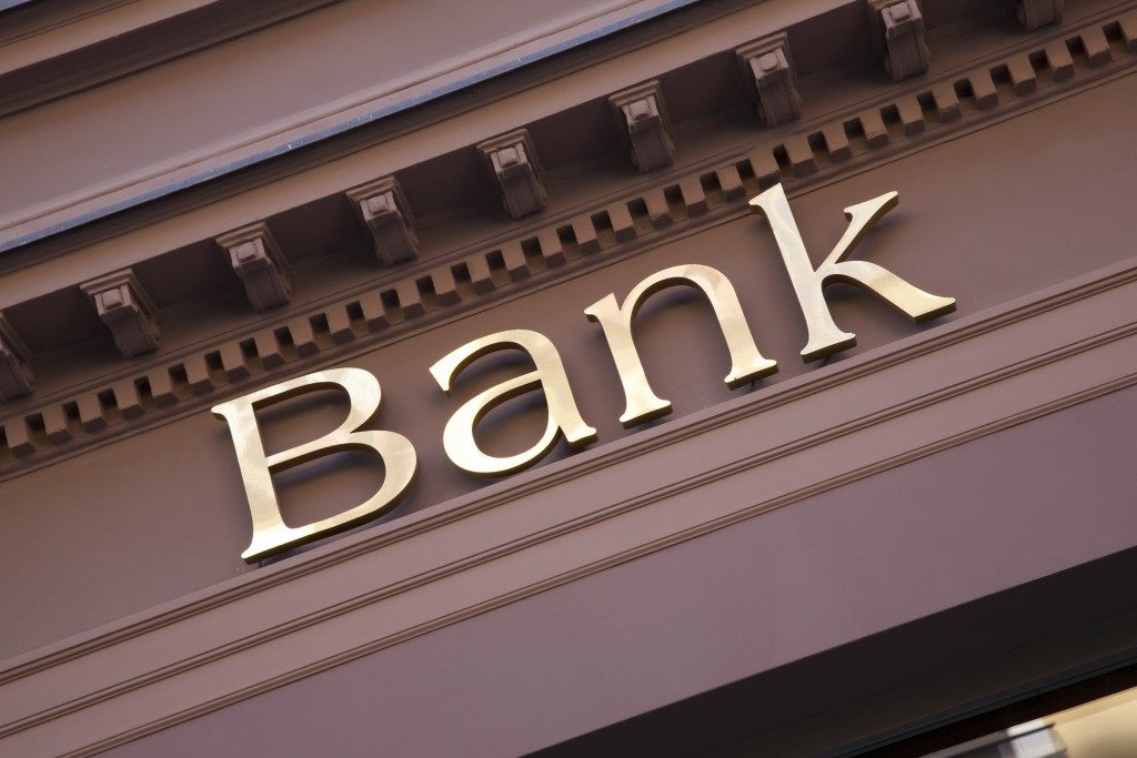 Bank Sign on Branch Facade