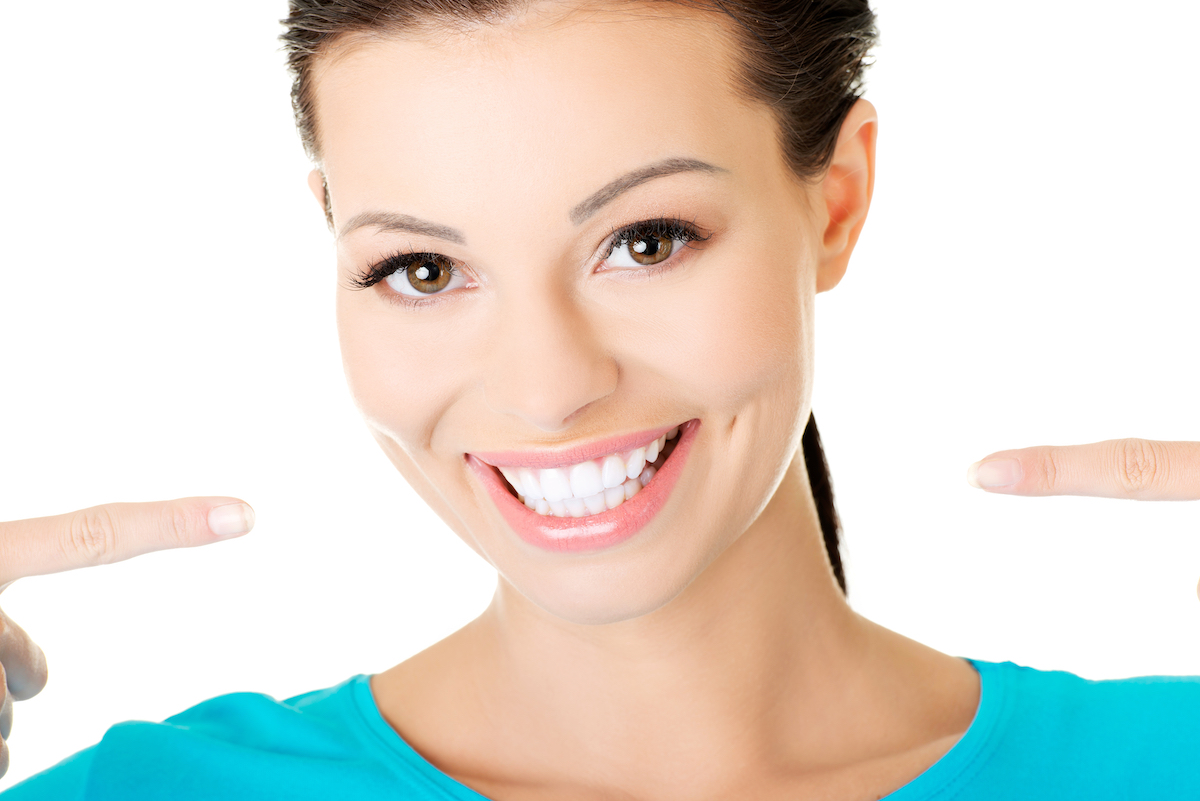 woman with a really white smile