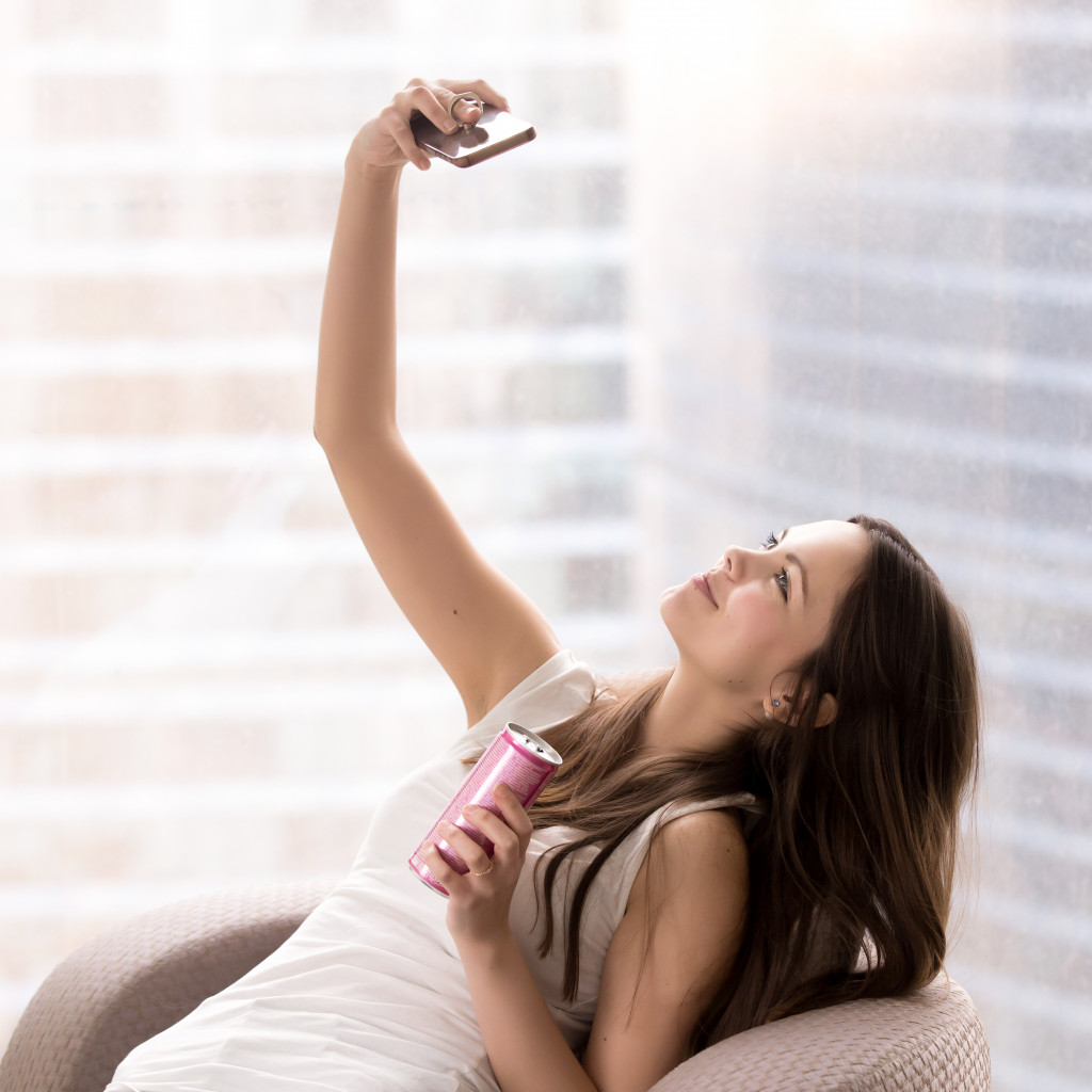 person taking a selfie