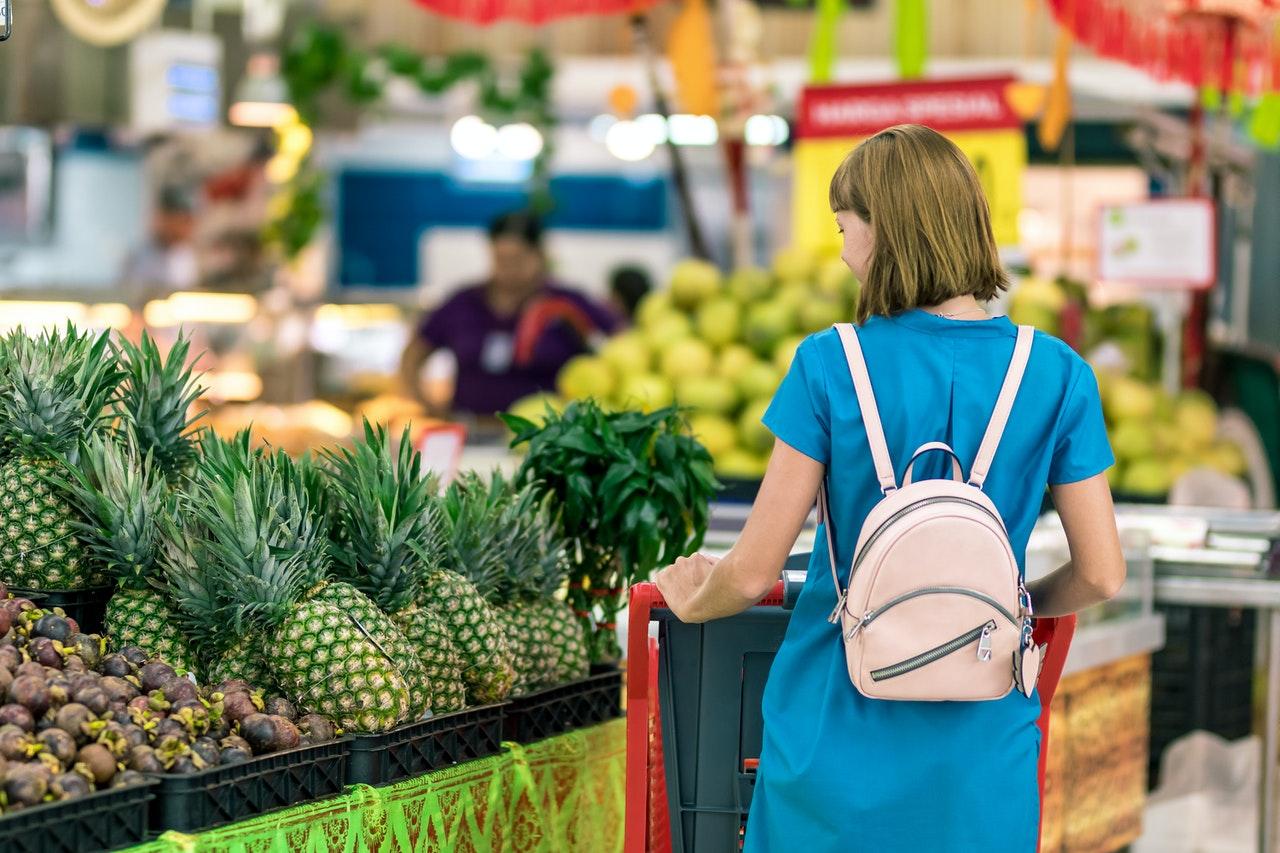 consumer in a supermarket